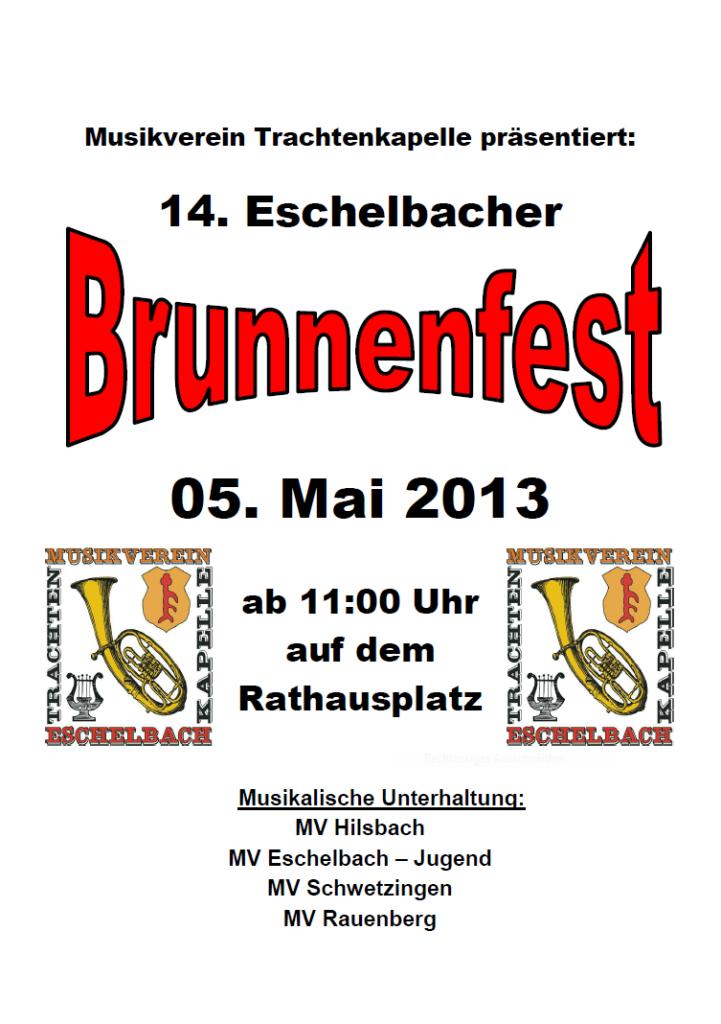 2013 Brunnenfest Plakat
