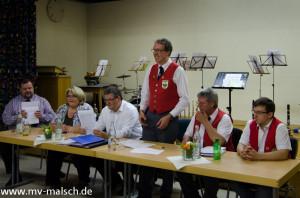 Neue Vorstandschaft des Musikvereins Konkordia Malsch