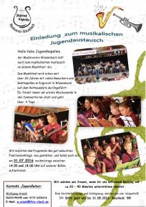 Einladung  zum musikalischen Jugendaustausch 2016