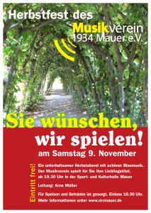 Herbstlich Willkommen beim Musikverein 1934 Mauer e.V.