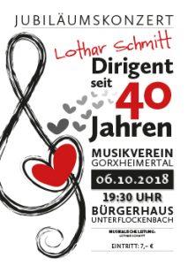 06.10.2018 Jubiläumskonzert Musikverein Gorxheimertal - 40 Jahre Dirigent Lothar Schmitt