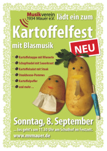 Kartoffelfest des Musikverein 1934 Mauer e.V. am 8. September 2013