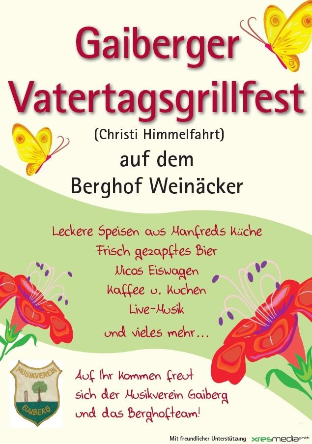 Gaiberger Vatertagsgrillfest auf dem Berghof Weinäcker