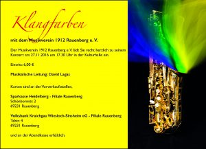 Konzert des Musikvereins 1912 Rauenberg e.V.