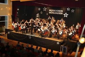 Nuehlhausen. Winterkonzert 2013 des Musikvereins Muehlhausen.