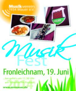 Musikfest an Fronleichnam des Musikverein 1934 Mauer e.V.