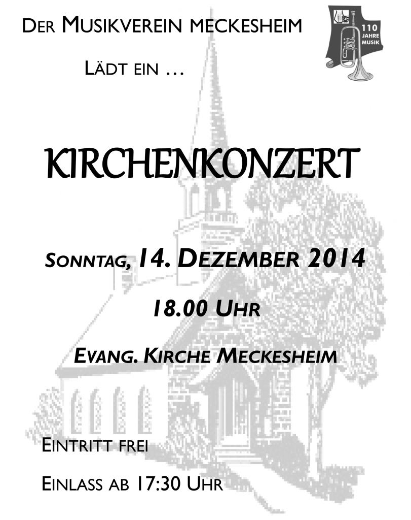 Plakat Kirchenkonzert 2014
