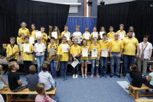 Rauenberg. Sommerkonzert der Musikjugend mit Ehrungen in der Aula der Mannabergschule. 05.06.2016 - Helmut Pfeifer.