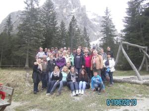 Ein Teil der Reisegruppe im Fischleintal.( Foto: privat)